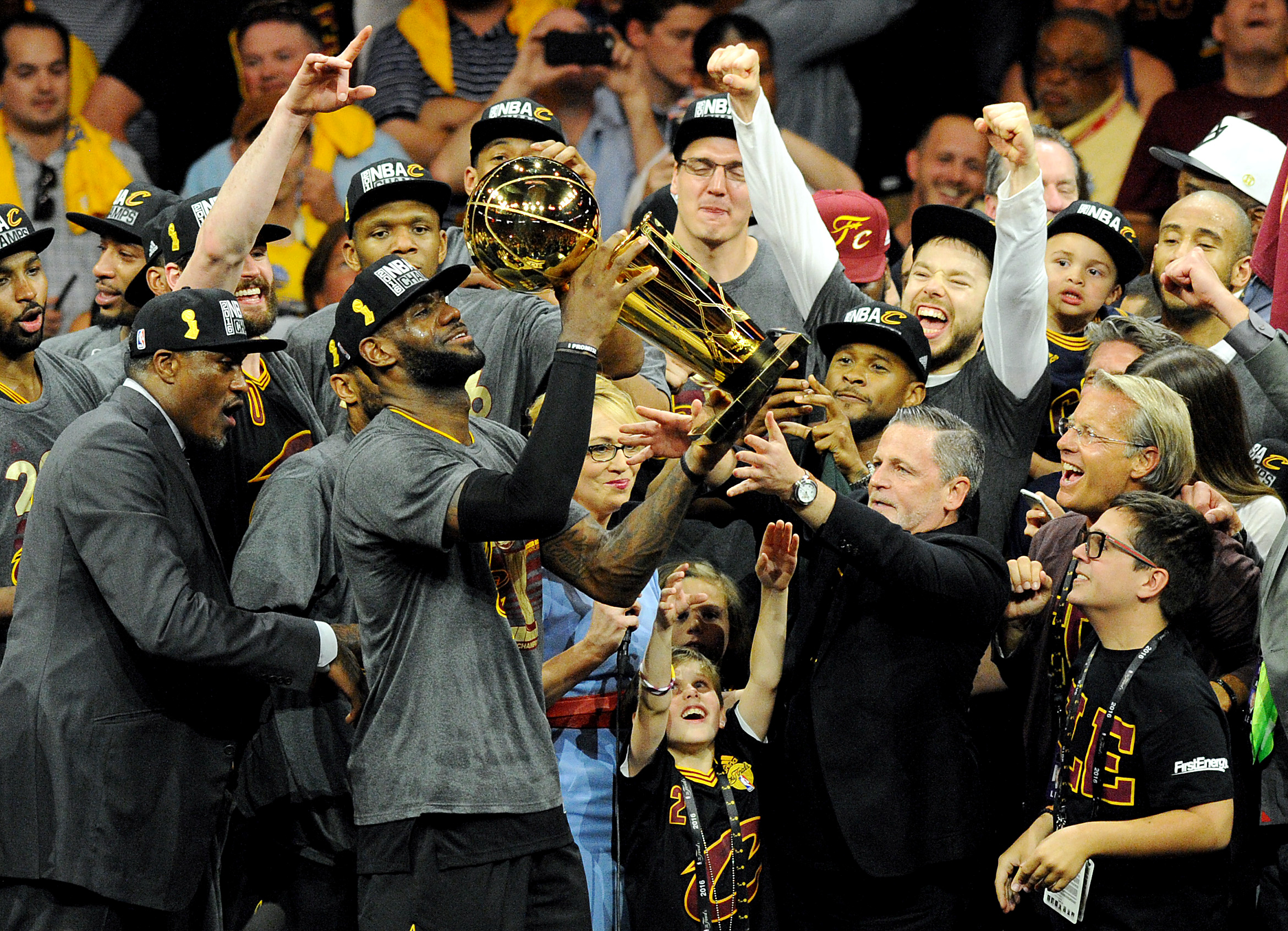 The Cleveland Cavaliers celebrate their first NBA Championship in franchise history (Photo: Reuters)