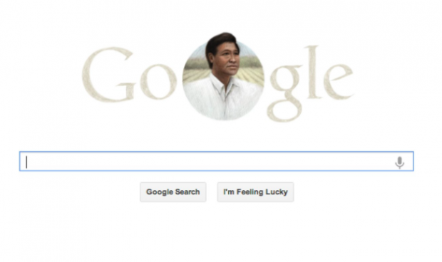 Screen capture of google.com on 3/31/13