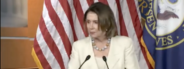Nancy Pelosi at Weekly Presser (C-Span Screen Capture)