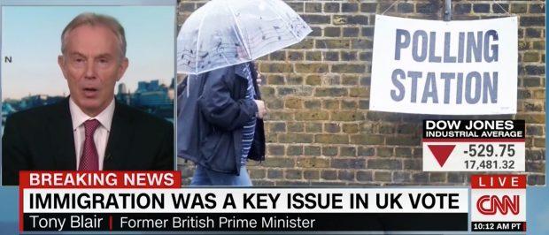 Tony Blair, Screen Grab CNN, 6-24-2016