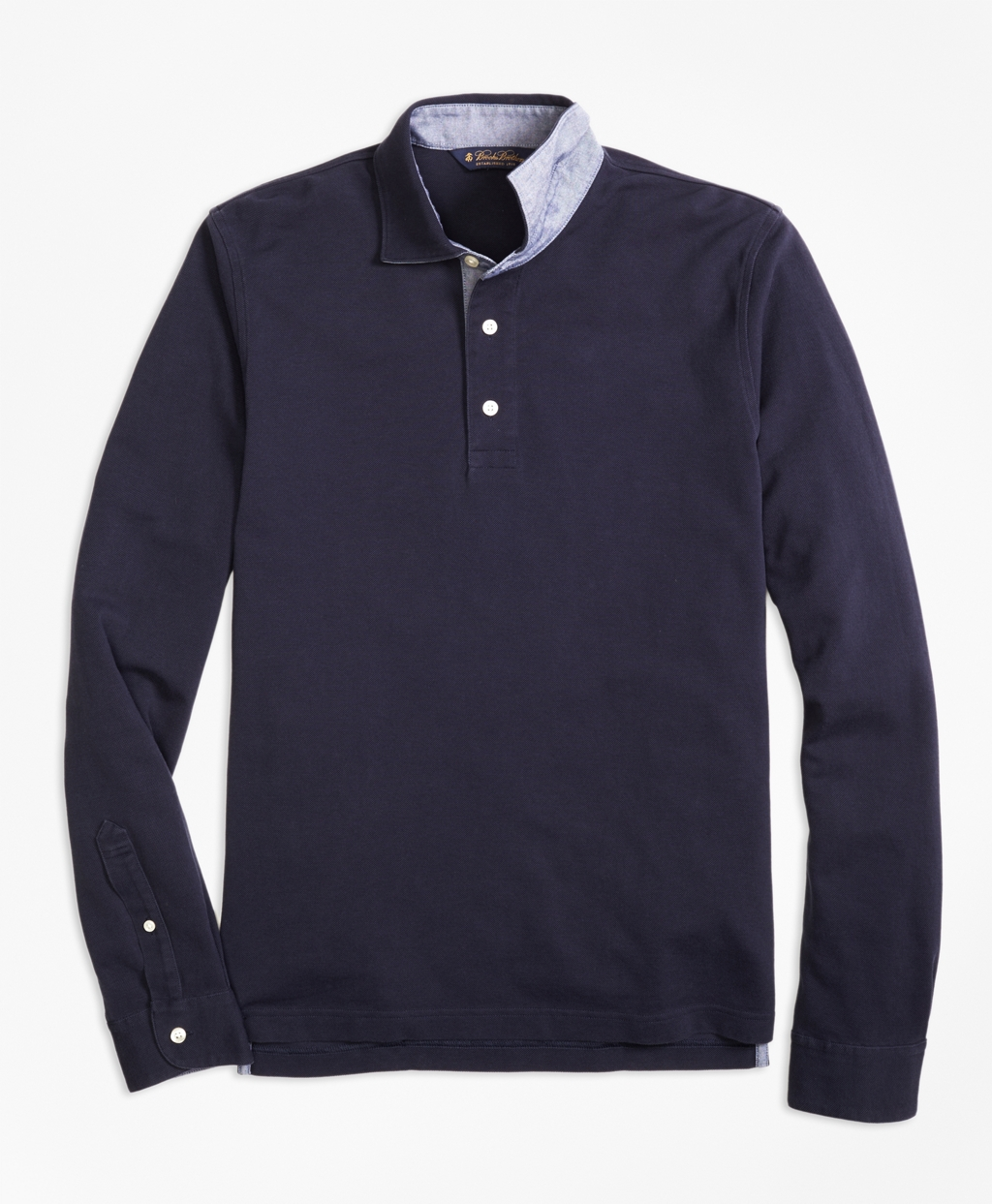 This long-sleeve polo is currently 40 percent off (Photo via Brooks Brothers)