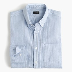 Usually $70, this classic seersucker shirt can be had for under $50 (Photo via JCrew)