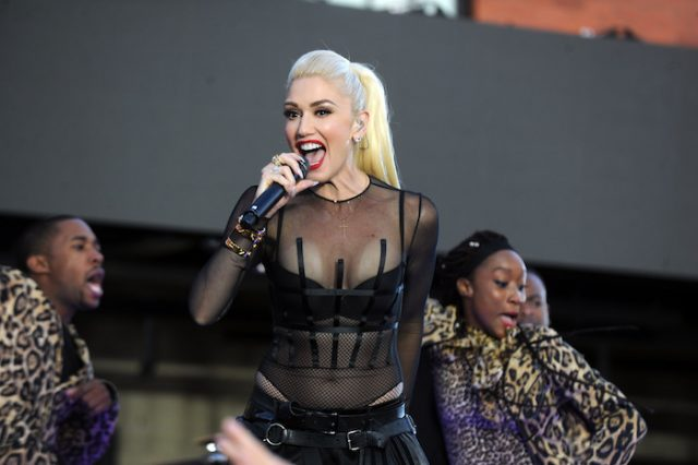 Gwen Stefani performs at Samsungs celebration of A Galaxy of Possibility and unveiling of Gear Fit2 at Samsung 837 on June 2, 2016 in New York City Pictured: Gwen Stefani (photo: Splash News)