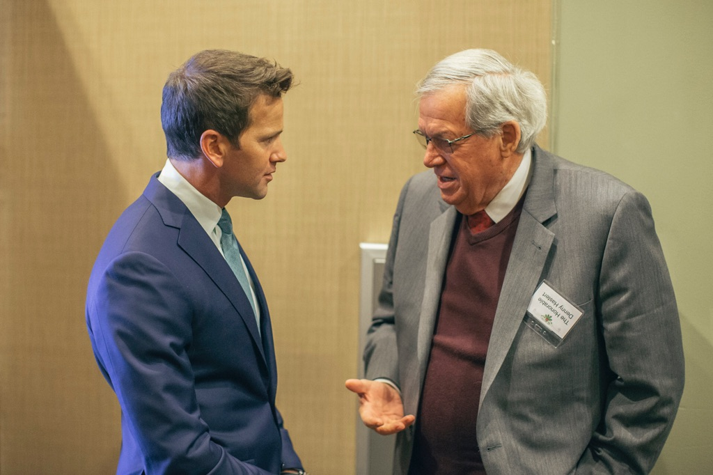 Former Illinois Rep. Aaron Schock and former Speaker of the House Dennis Hastert