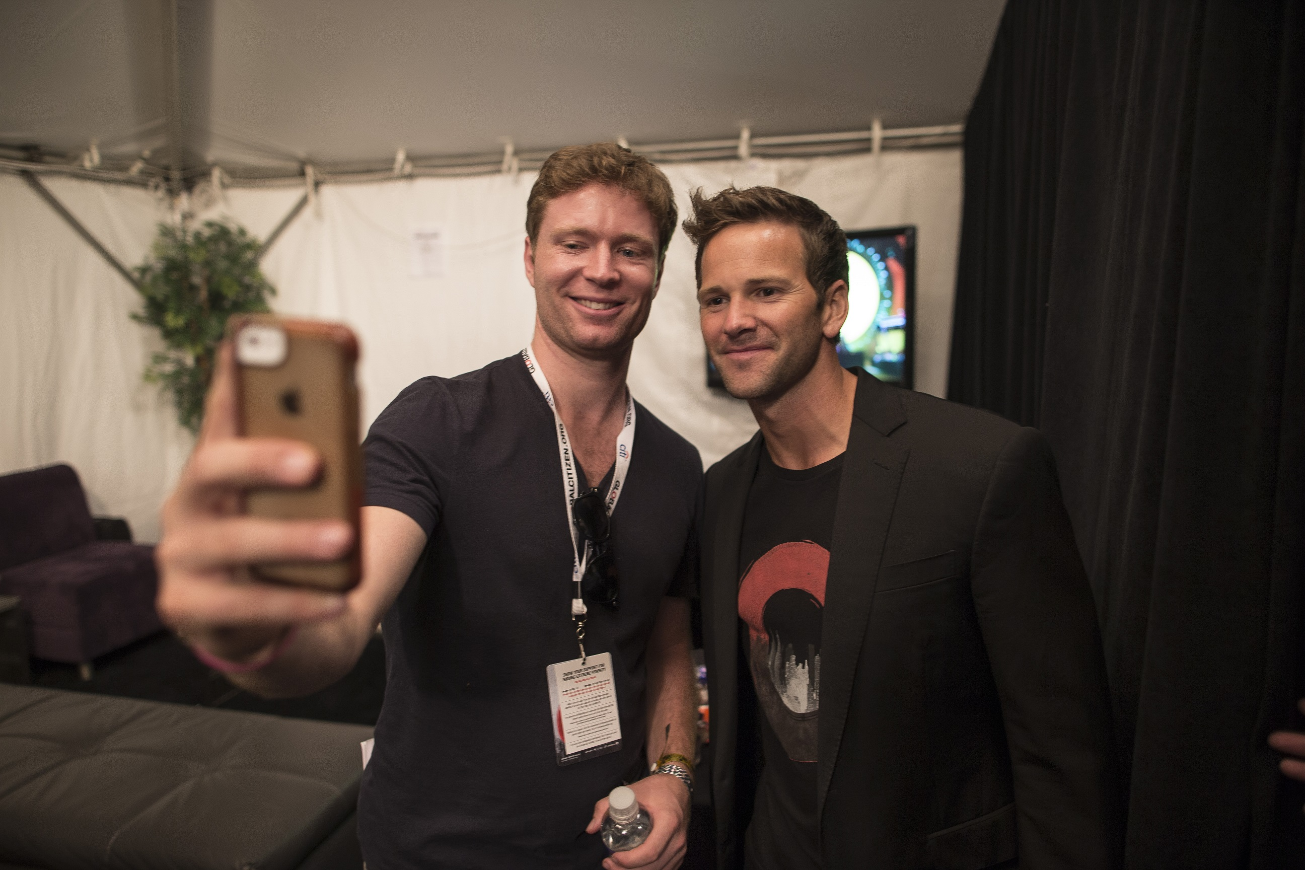 Former Illinois Rep. Aaron Schock at the Global Citizen Festival