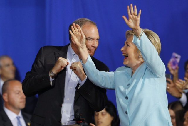 Clinton and her vice president pick, Tim Kaine. (Photo: Reuters)