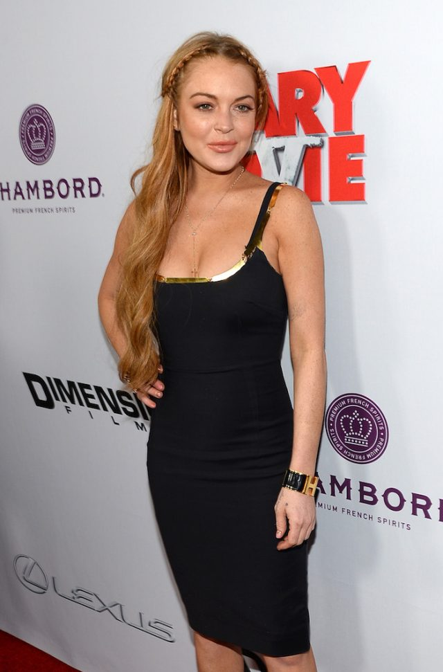 "Lindsay Lohan arrives for the premiere of Dimension Films' ""Scary Movie 5"" at ArcLight Cinemas Cinerama Dome on April 11, 2013 in Hollywood, California. (photo: Getty images)"