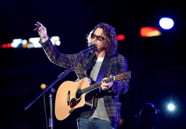 ARLINGTON, TX - JANUARY 12: Musician Chris Cornell performs at the Dallas Premiere of the Paramount Pictures film '13 Hours: The Secret Soldiers of Benghazi' at the AT&T Dallas Cowboys Stadium on January 12, 2016 in Arlington, Texas. (Photo by Cooper Neill/Getty Images for Paramount Pictures)