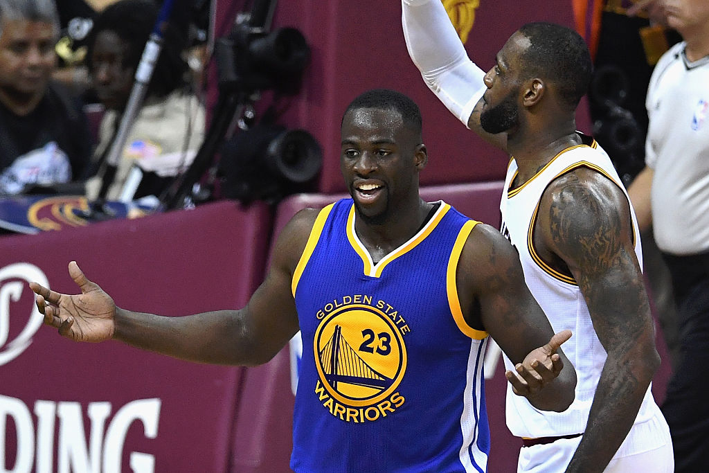 Draymond Green questions a call in Game 6 of the 2016 NBA Finals (Getty Images)