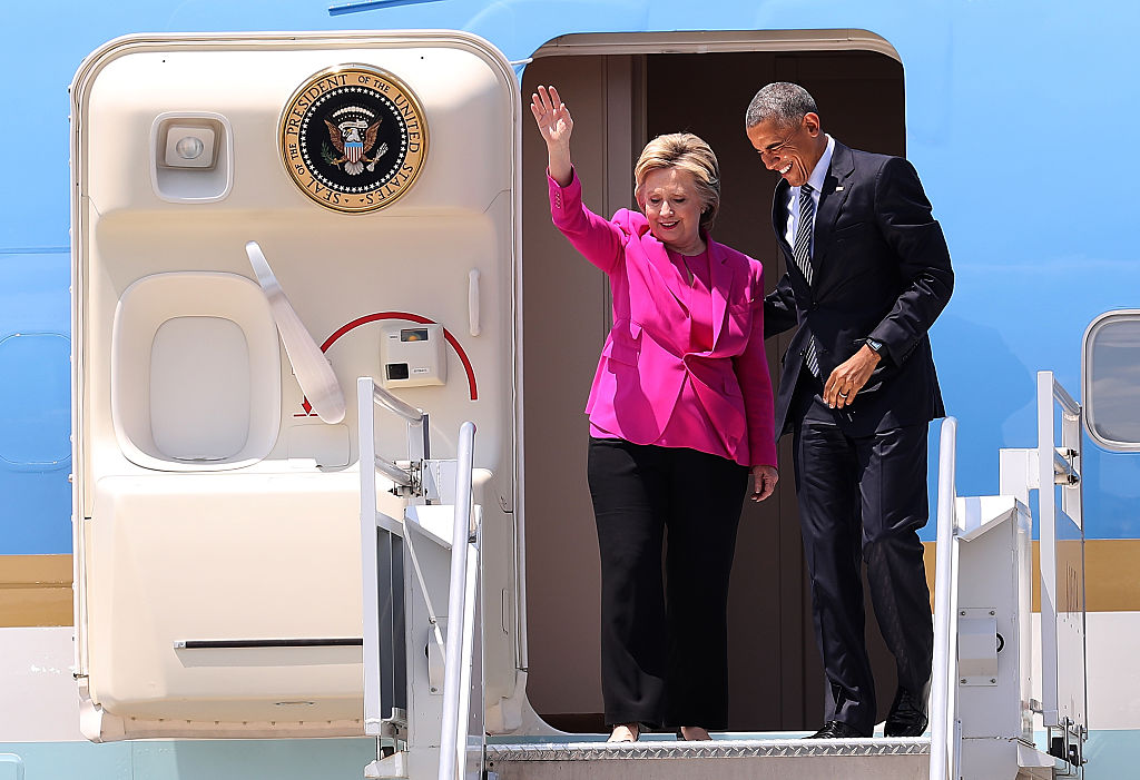 President Obama Campaigns With Hillary Clinton In Charlotte (Getty Images)