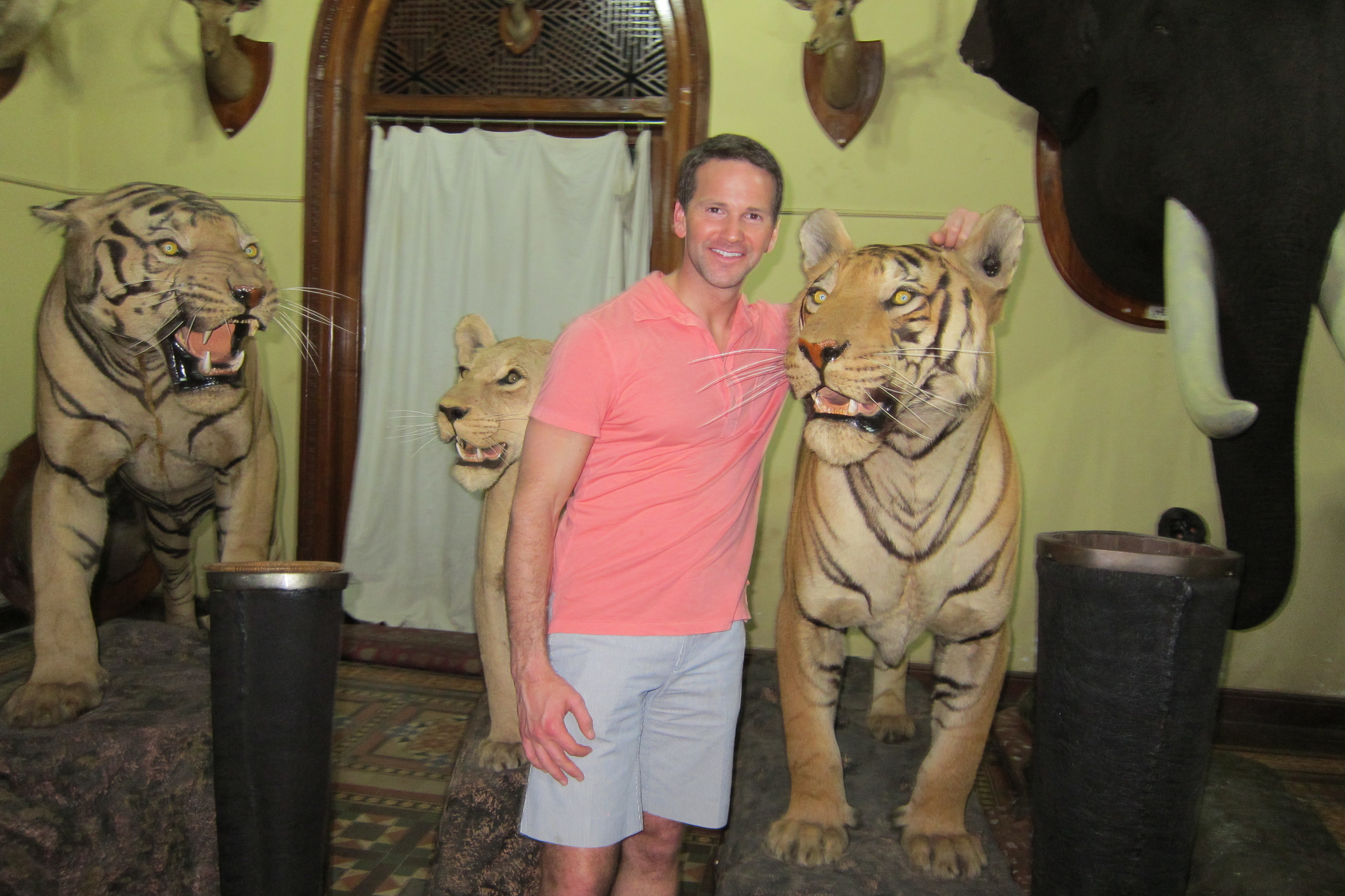Former Illinois Rep. Aaron Schock in India, May, 2014.