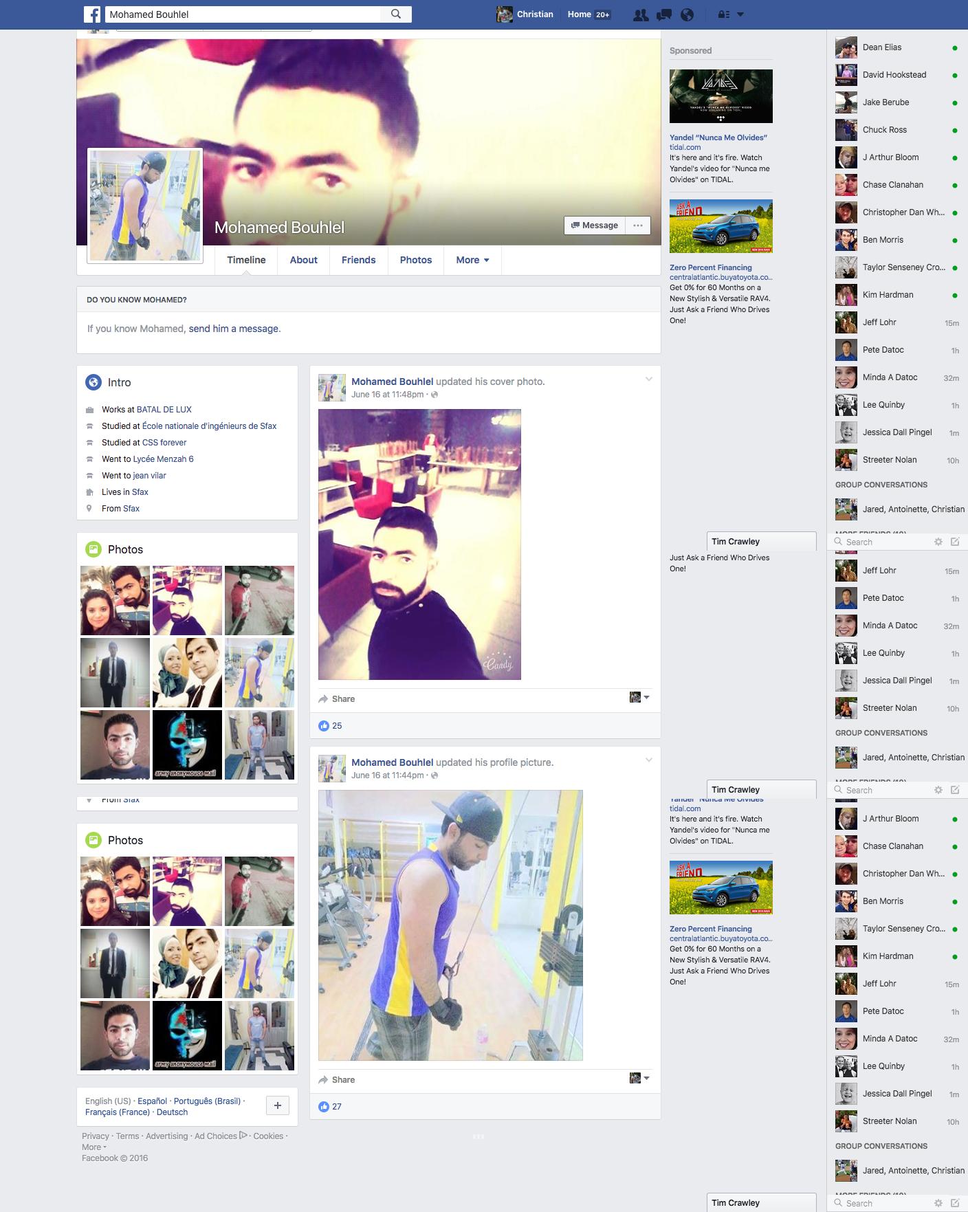 Mohamed Bouhlel Facebook