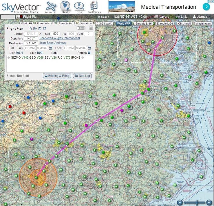 (Sky Vector Aeronautical Charts)