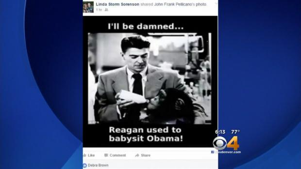 Racist Obama meme, Facebook, CBS Denver