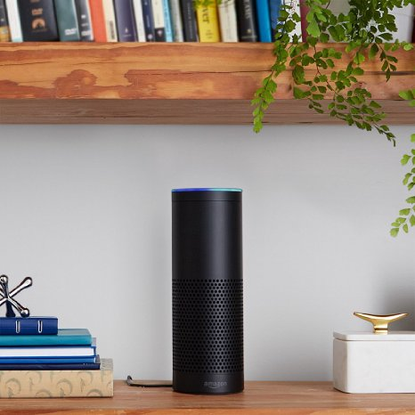 The Echo is the speaker that will do just about anything you ask (Photo via Amazon)