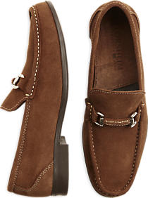 Florsheim Felix suede loafers come in brown (Photo via Men's Wearhouse)