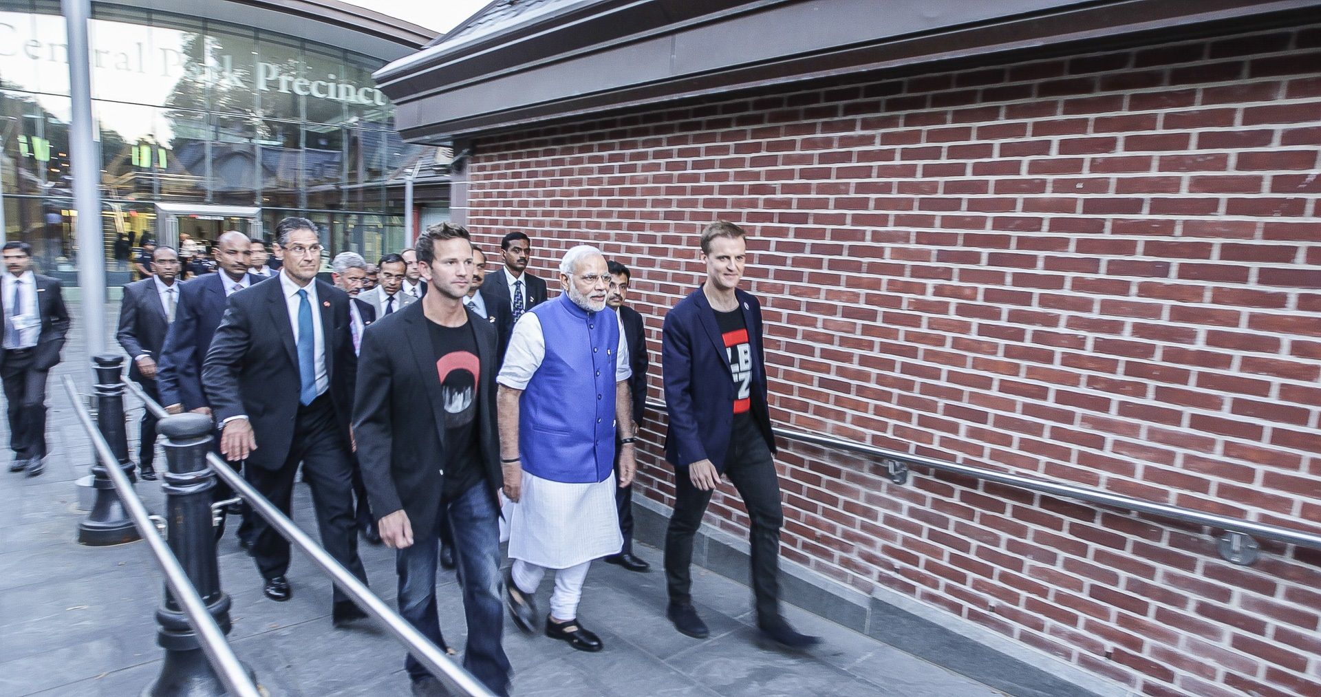Former Illinois Rep. Aaron Schock with indian Prime Minister Narendra Modi at the Global Citizen Festival
