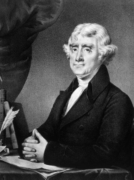 Thomas Jefferson. Shutterstock/Everrett Historical.