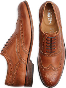 Florsheim Tierney Wingtips come in tan (Photo via Men's Wearhouse)