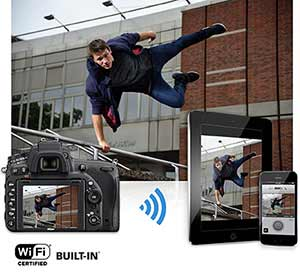 The Nikon D750 has built-in Wi-Fi (Photo via Amazon)
