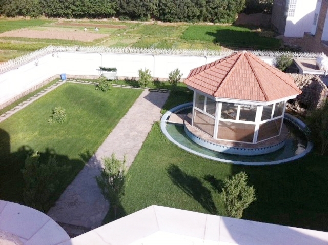 Pictured is a manicured yard at one of the Afghan villas. Photo: Courtesy of War Is Boring