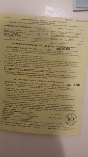 Brenda Lawrence eviction notice [Daily Caller News Foundation]