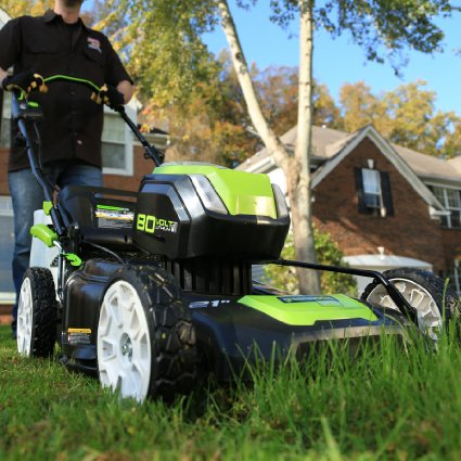 This 4.5-star lawn mower is 42 percent off today (Photo via Amazon)