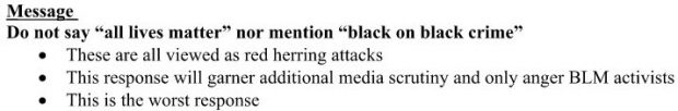 DCCC memo on Black Lives Matter, released to the public by Guccifer 2.0