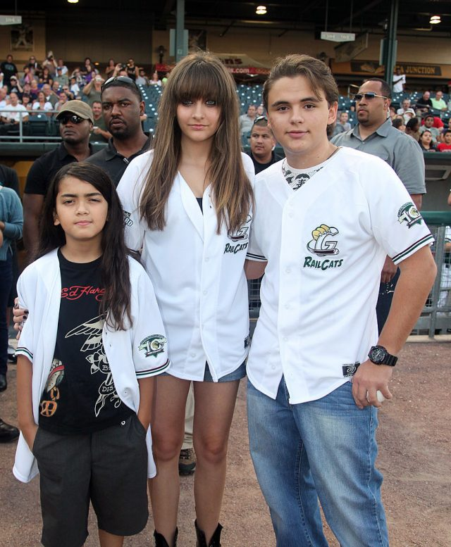 Blanket, Paris and Prince Jackson. (Photo: Getty Images)
