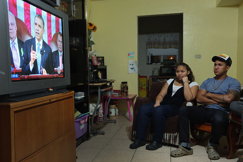 Dreamers watch President Obama deliver the 2013 State of the Union (Getty Images)