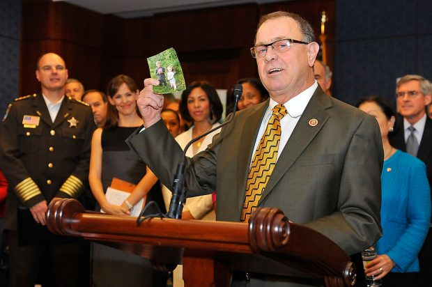 Rep. Richard Hanna (R-NY) speaks at the Strong Start for America's Children bill introduction at the Capitol Visitor's Center on November 13, 2013 in Washington, D.C.