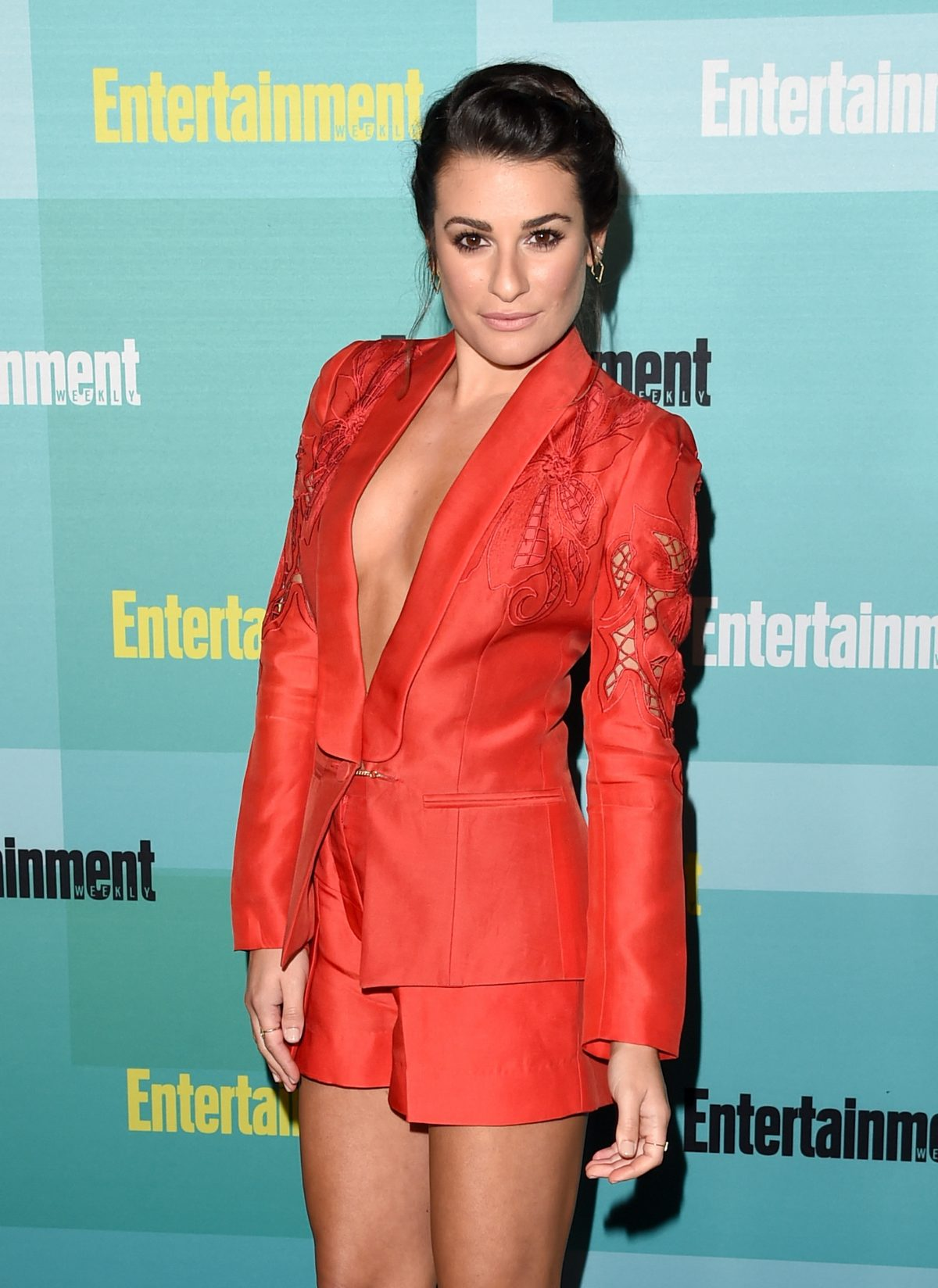Actress/singer Lea Michele attends Entertainment Weekly's Comic-Con 2015 Party sponsored by HBO, Honda, Bud Light Lime and Bud Light Ritas at FLOAT at The Hard Rock Hotel on July 11, 2015 in San Diego. (Photo by Jason Merritt/Getty Images for Entertainment Weekly)