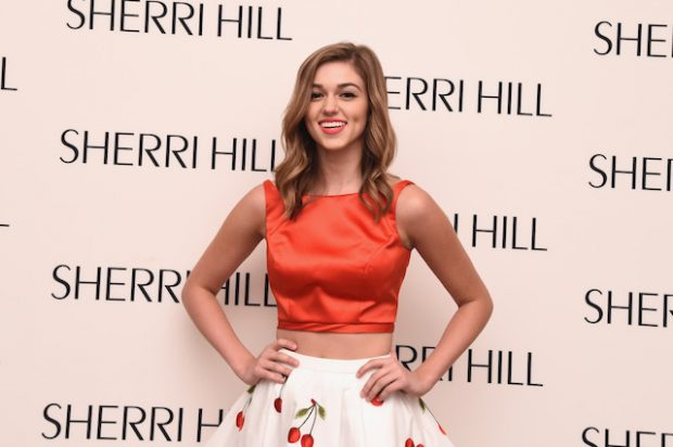 NEW YORK, NY - SEPTEMBER 13: Sadie Robertson prepares backstage at the Sherri Hill Spring 2016 fashion show during New York Fashion Week at The Plaza Hotel on September 13, 2015 in New York City. (Photo by Ilya S. Savenok/Getty Images for Sherri Hill)
