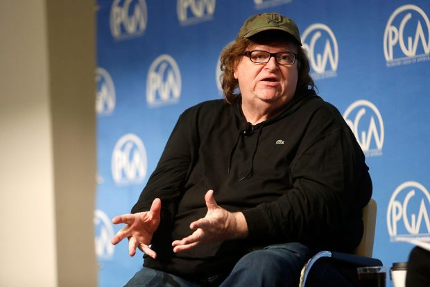 NEW YORK, NY - OCTOBER 24: Michael Moore speaks during the PGA Produced By: New York Conference at Time Warner Center on October 24, 2015 in New York City. (Photo by Thos Robinson/Getty Images for Producers Guild of America)