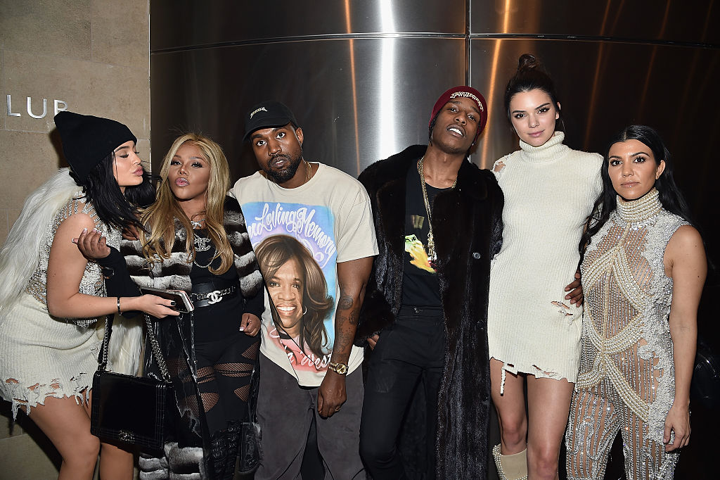 Kendall and A$SP with Kylie, Kim and Kanye (Photo: Getty Images)