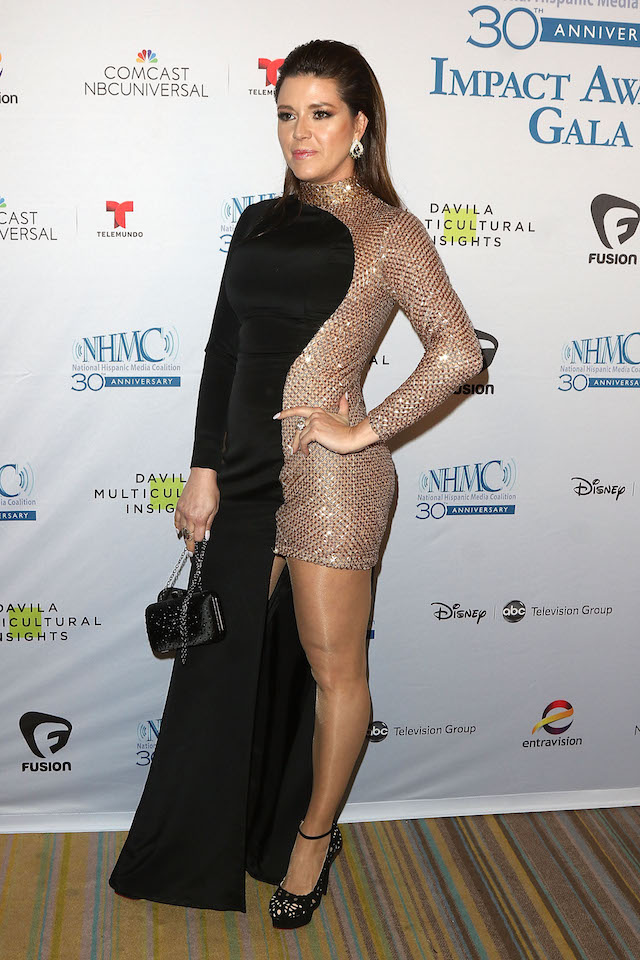 BEVERLY HILLS, CA - FEBRUARY 26: Former Miss Universe/actress Alicia Machado attends the 19th Annual National Hispanic Media Coalition Impact Awards Gala at Regent Beverly Wilshire Hotel on February 26, 2016 in Beverly Hills, California. (Photo by JC Olivera/Getty Images for National Hispanic Media Coalition)