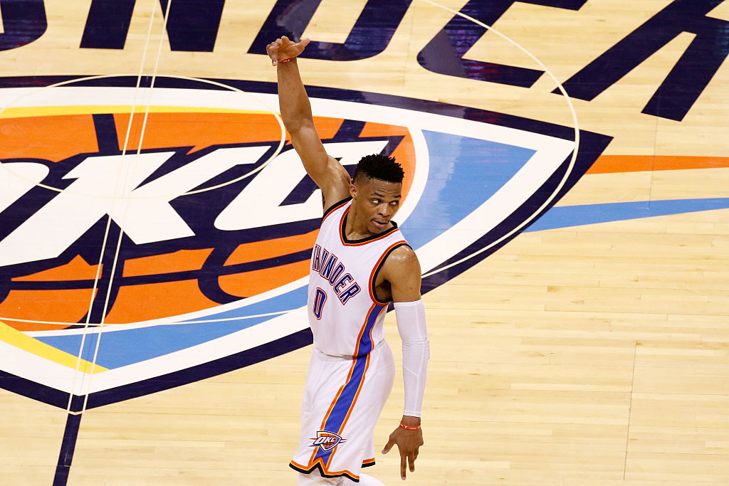 Westbrook will remain with the Oklahoma City Thunder. (Photo by J Pat Carter/Getty Images)