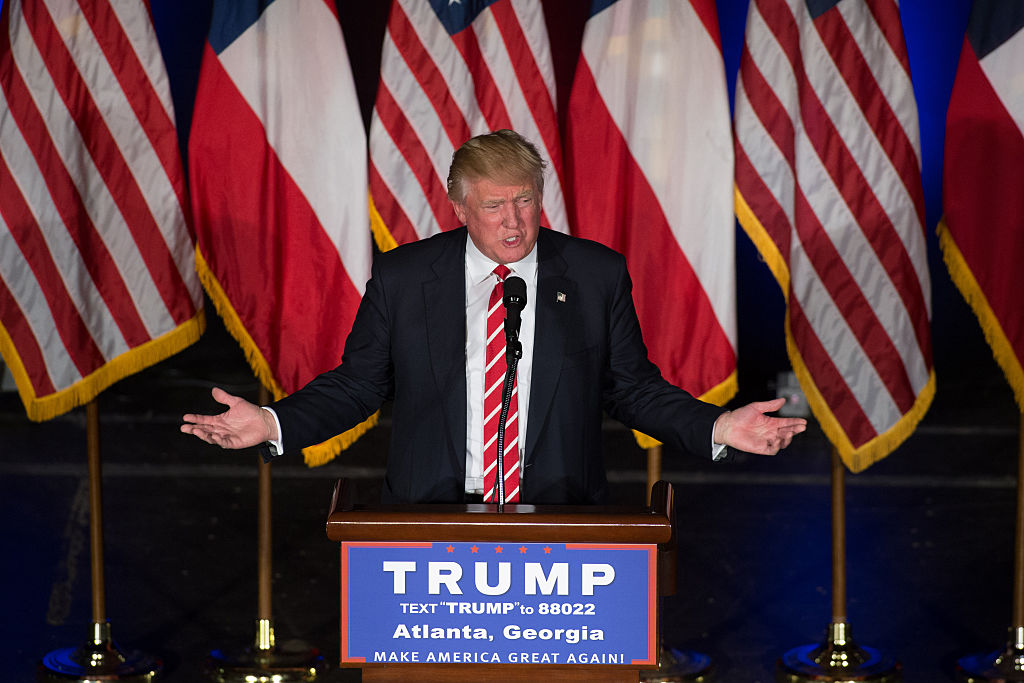 Donald Trump speaks at the Fox Theater in Atlanta (Getty Images)