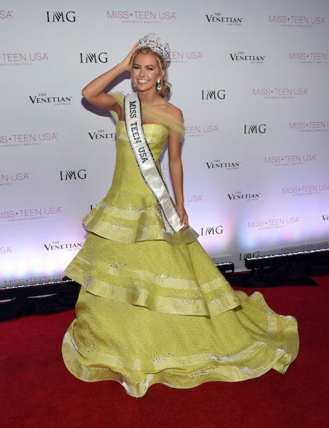 LAS VEGAS, NV - JULY 30: Miss Texas Teen USA 2016 Karlie Hay poses for photos after being crowned Miss Teen USA 2016 during the 2016 Miss Teen USA Competition at The Venetian Las Vegas on July 30, 2016 in Las Vegas, Nevada. (Photo by Ethan Miller/Getty Images)