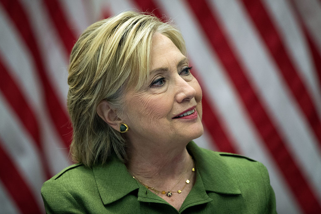 Hillary Clinton delivers opening remarks during a meeting with law enforcement officials at the John Jay College of Criminal Justice on August 18, 2016 (Getty Images)