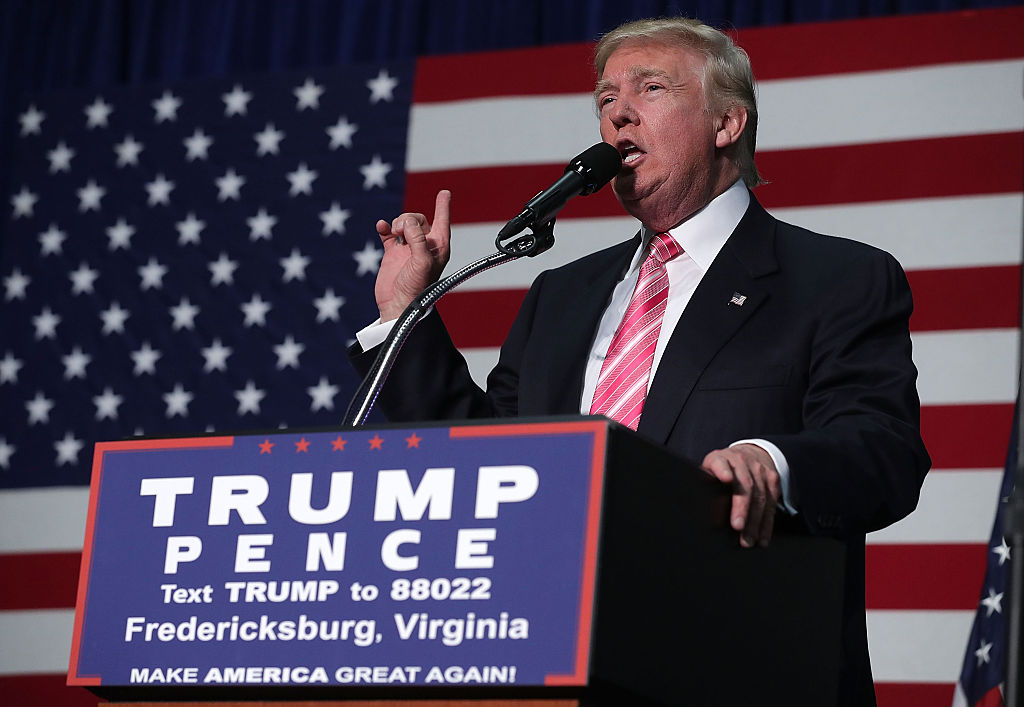Donald Trump speaks to voters during a campaign rally (Getty Images)