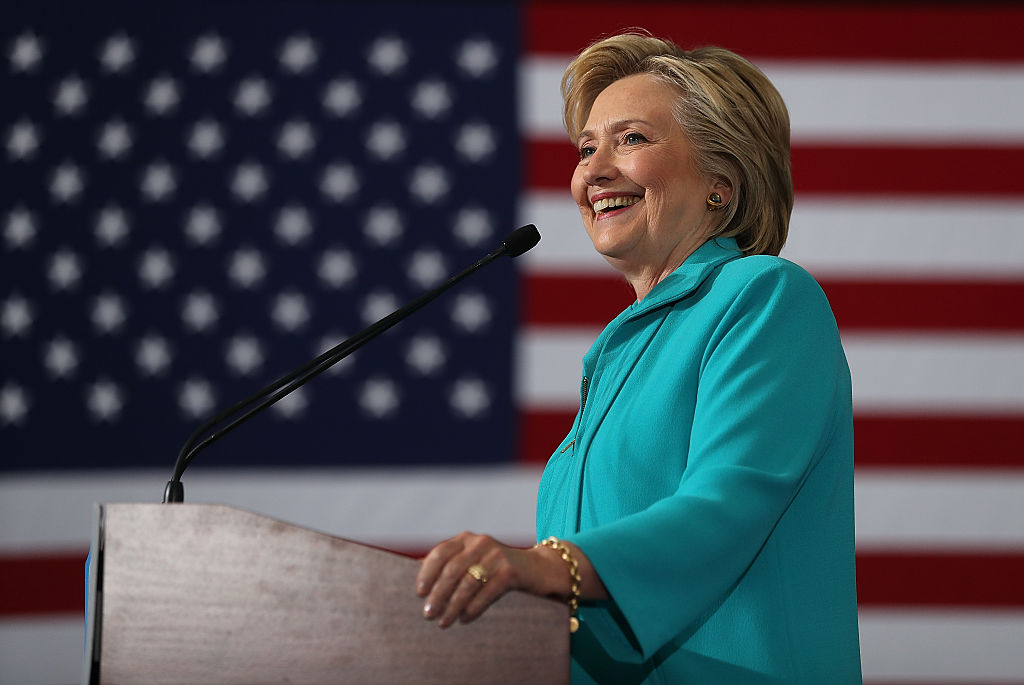Hillary Clinton speaks during a campaign event at Truckee Meadows Community College on August 25, 2016 in Reno, Nevada (Getty Images)