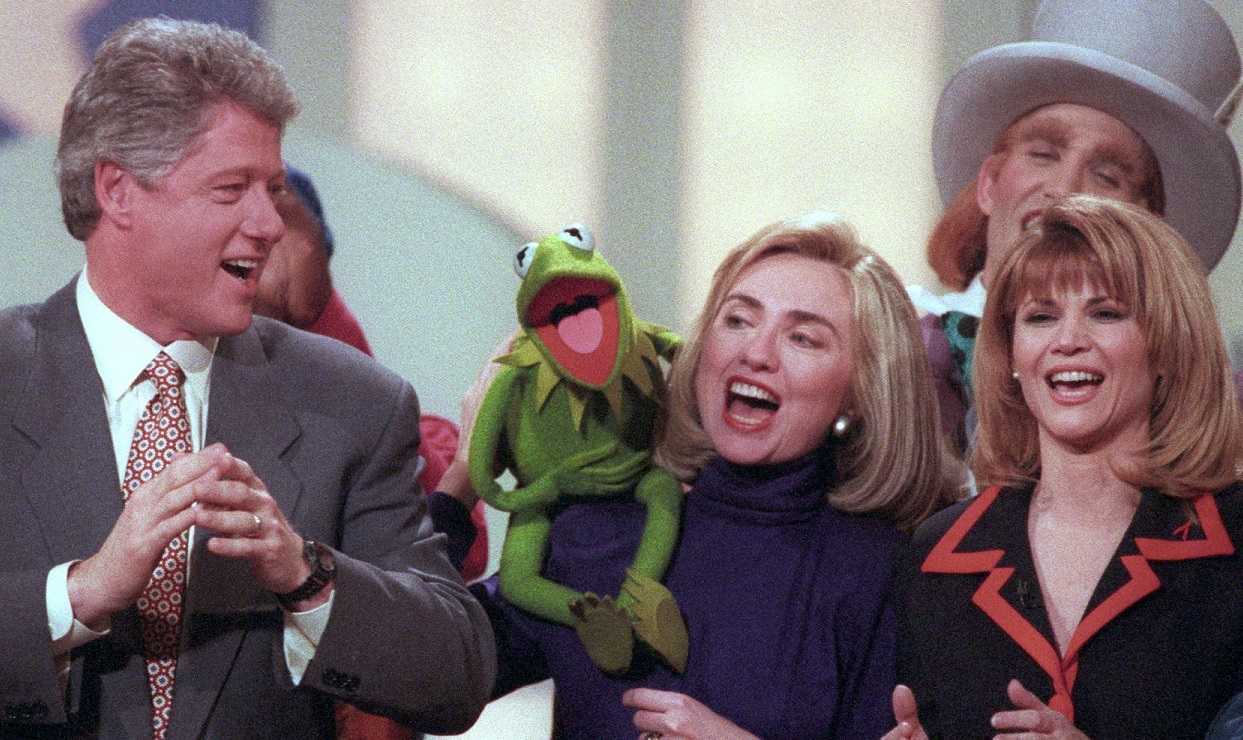 Hillary Clinton and Kermit the Frog 1993 Reuters Win McNamee