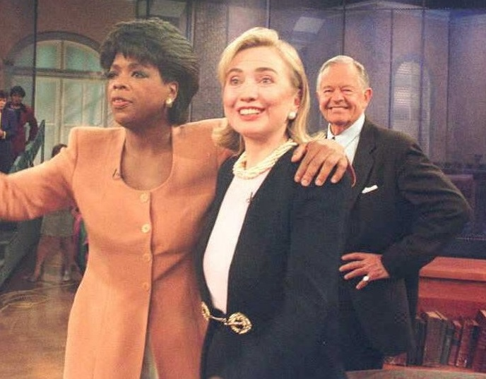 Hillary Clinton and Oprah Winfrey 1995 AFP Getty Images