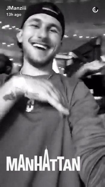 Johnny Manziel (Credit: Screenshot/Snapchat Johnny Manziel Video)