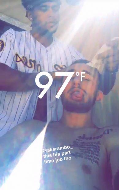 Johnny Manziel (Screenshot/Snapchat Video)