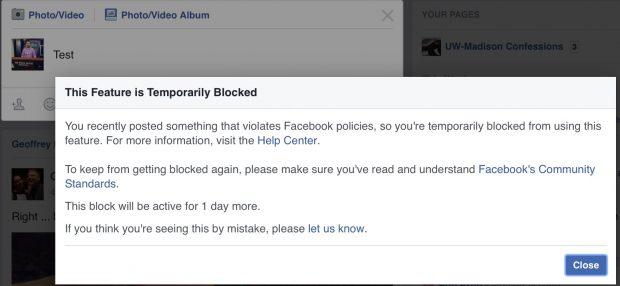 Facebook ban (Credit: David Hookstead)