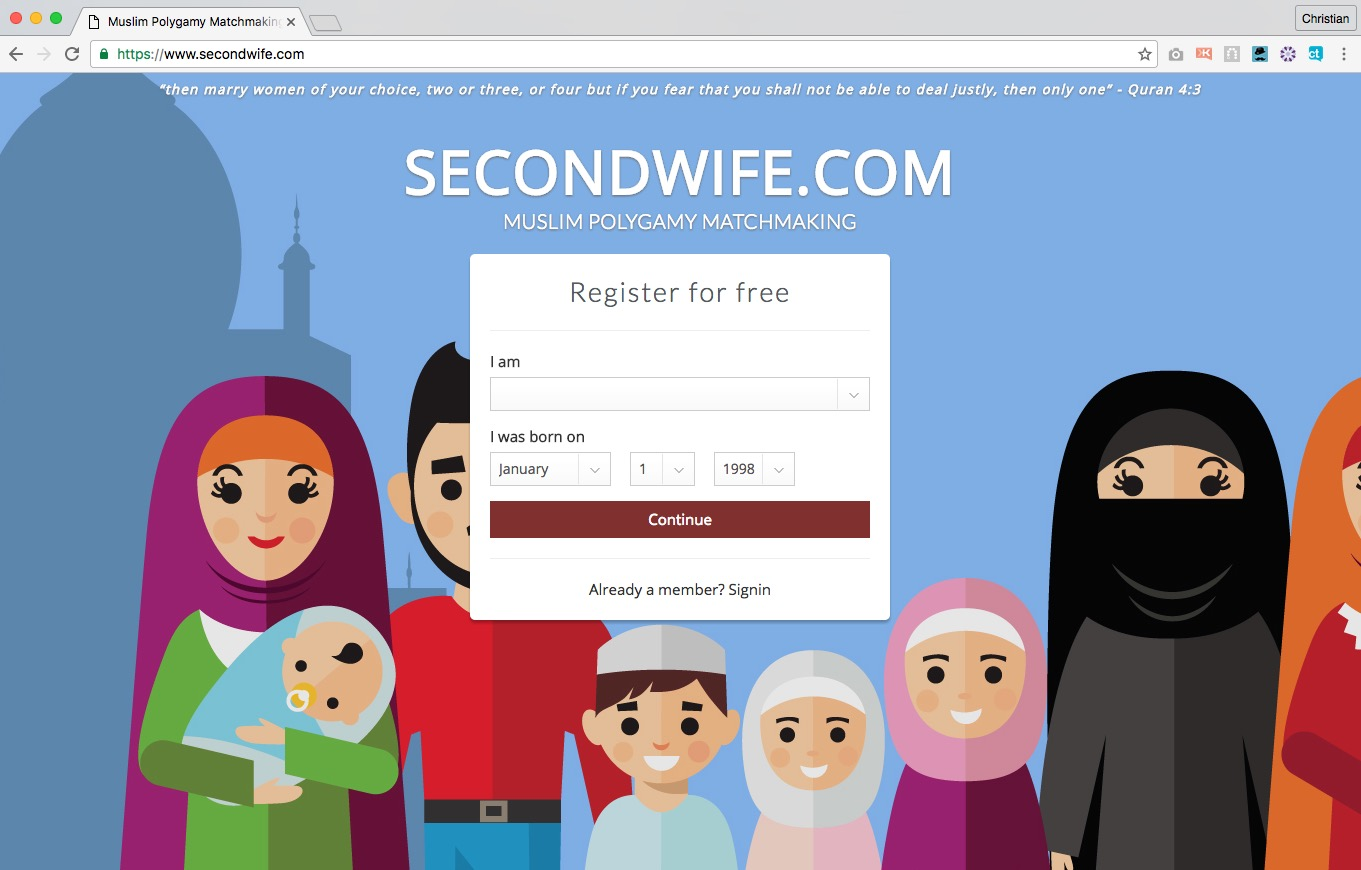The page that greets new visitors to SecondWife.com (screenshot)