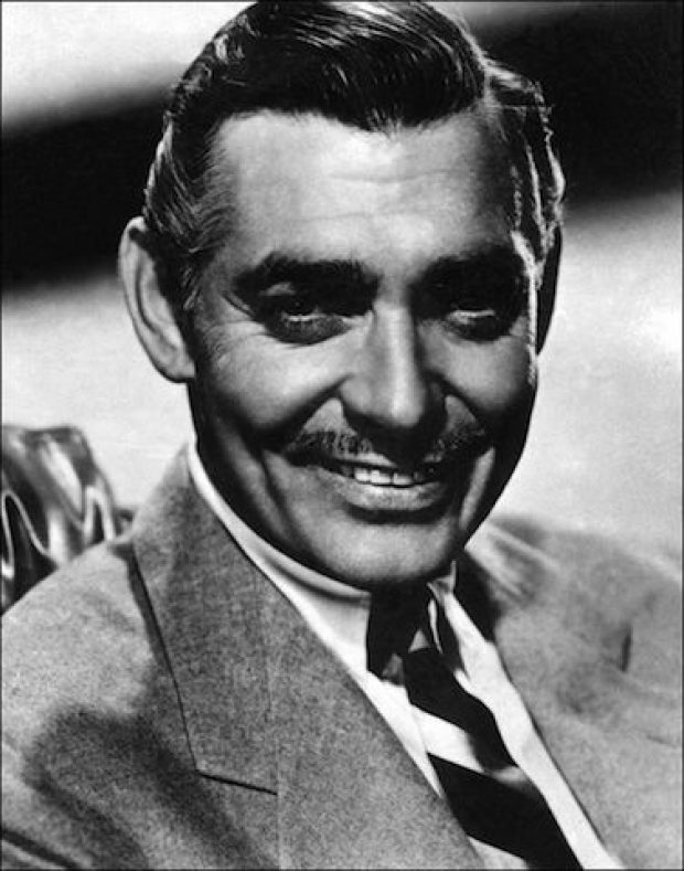 Picture taken in the 40s of American film actor Clark Gable (1901-1960). His first leading film role was in 'The Painted Desert' (1931). Growing popularity in tough but sympathetic parts soon labelled him 'The King of Hollywood' reaching its peak with his portrayal of Rhett Butler in 'Gone with the wind'. (Photo credit should read STF/AFP/Getty Images)