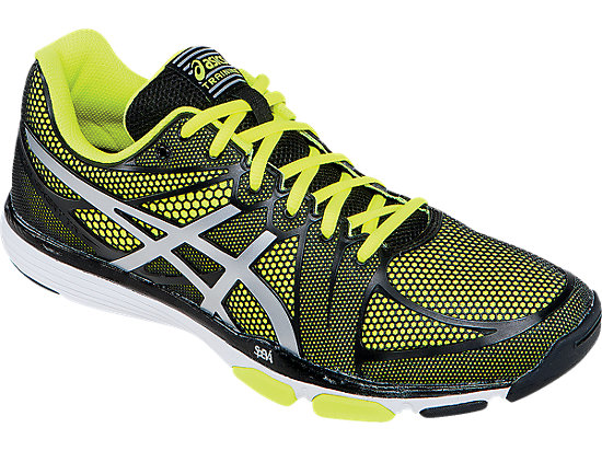 These training shoes are available in three colors: yellow, green and red (Photo via ASICS)
